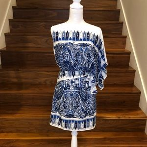 BCBG One Sleeve Dress